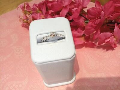 SS & 18ct R/G Diamond Ring