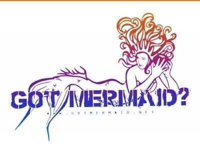 London Mermaid Vinyl Sticker