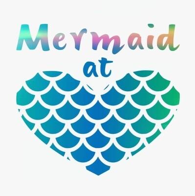 Mermaid at Heart Vinyl Sticker