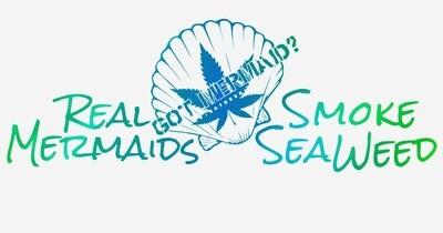 Real Mermaids SeaWeed Vinyl Sticker