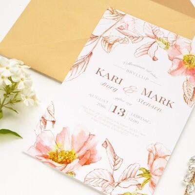 Briar wedding invitation