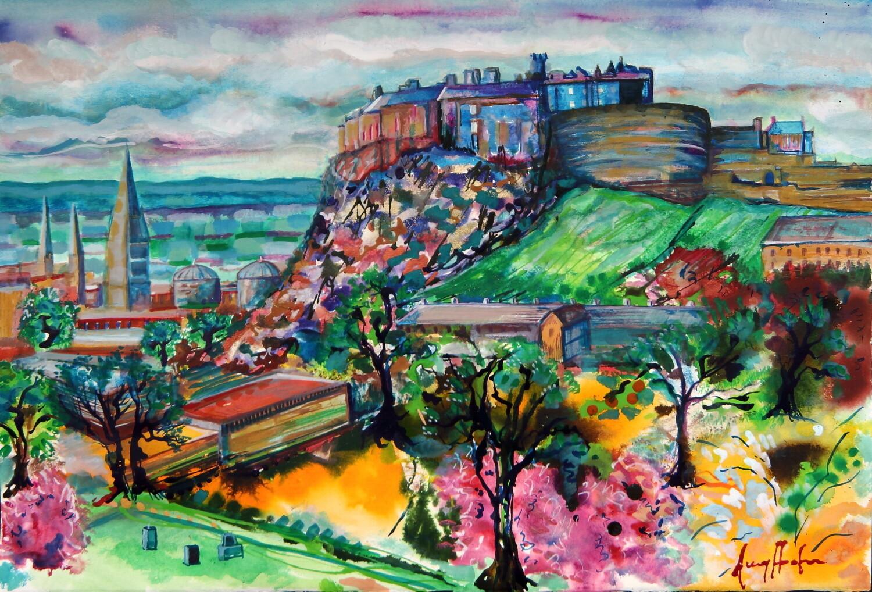 Edinburgh Castle in Springtime