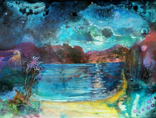 Otherworld seascape