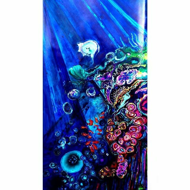 Jellyfish Cloud Coral painting