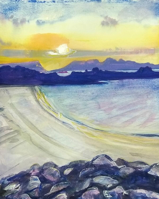 Rhum & Eigg from Cammusdarroch Beach