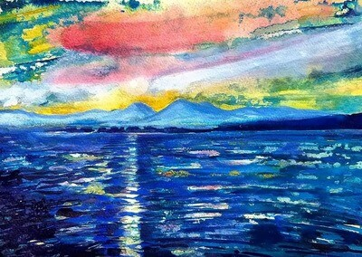 Sunset on the Sound of Jura