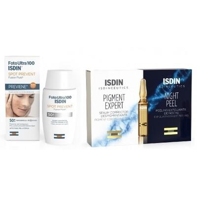 Isdinceutics Rutina Antimanchas Spot Prevent 50 ml + Pigment Expert 5 ampollas + Night Peel 5 ampollas