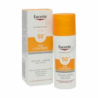 Eucerin oil control Dry Touch SPF50+ sun gel cream 50ml