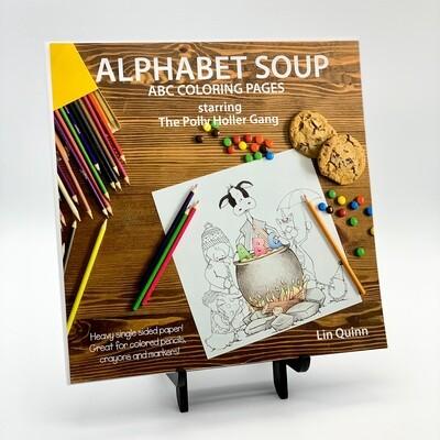 Alphabet Soup, ABC Coloring Pages