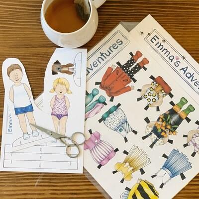 Emma's Adventures Paper Dolls