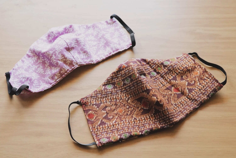 Set of 2 Hand Sewn Face Masks