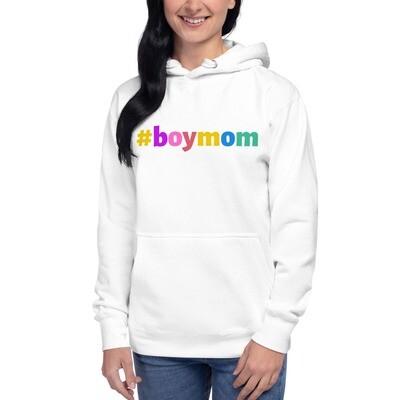#boymom multi-color Hoodie