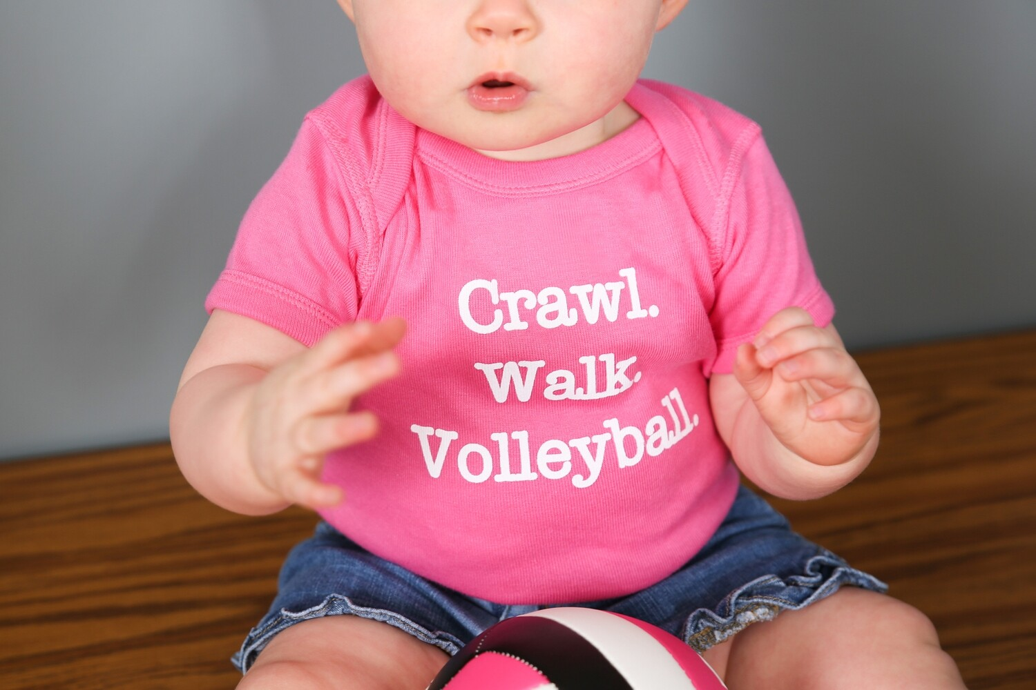 Crawl, Walk, Volleyball Onesie