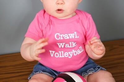 Crawl, Walk, Volleyball Onesie