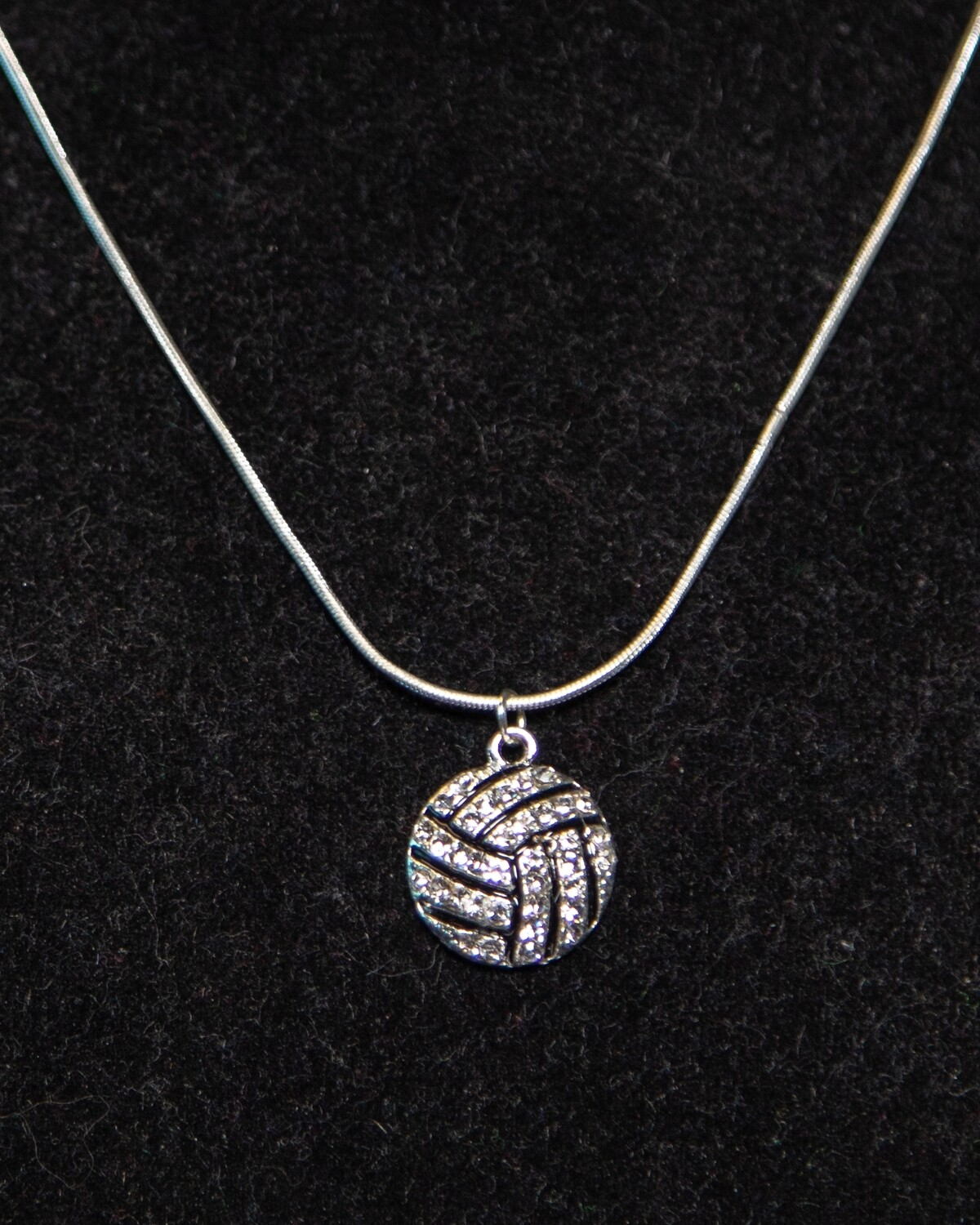 Volleyball Bling Necklace