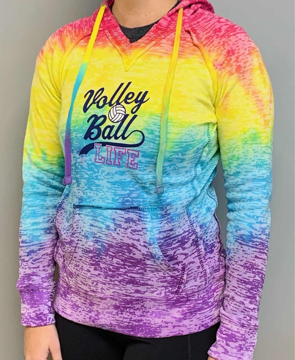 Volleyball Life Tie Dye Hoodie