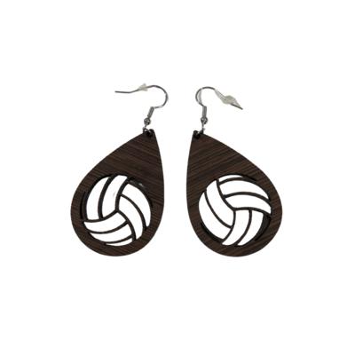 Wooden VB Earrings
