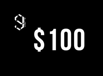 Deposit of $100