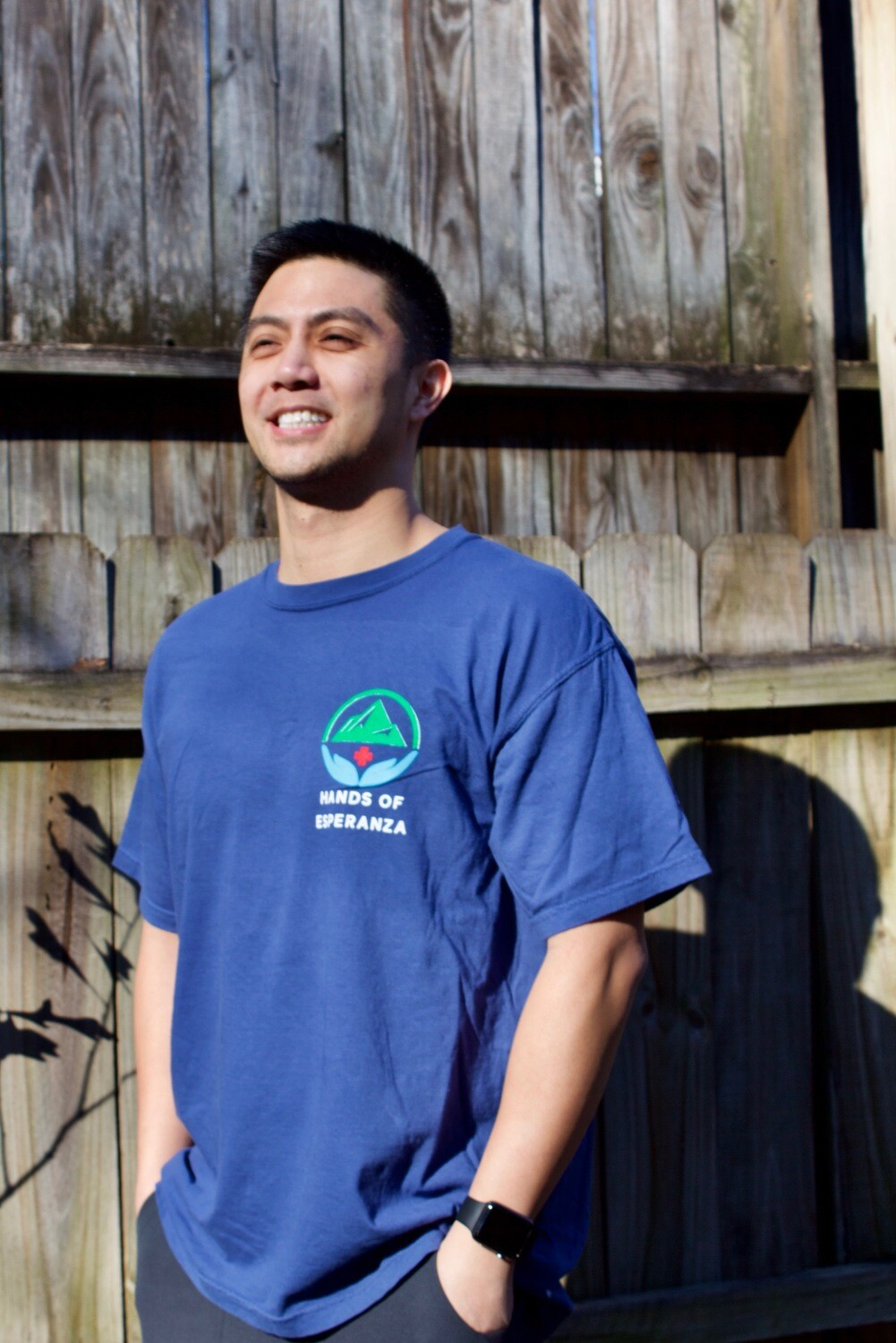 Blue Short Sleeve T-Shirt w/ Quote