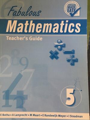 Grade 5 Fabulous Mathematics Teacher Guide