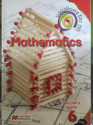 Grade 6 Solutions For All Mathematics Teacher Guide