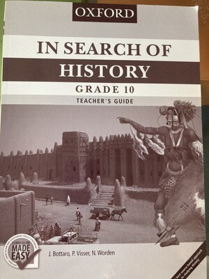 Grade 10 Oxford In Search Of History Teachers Guide