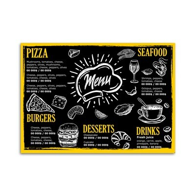 Custom Full-Color Disposable Menus (Canva)