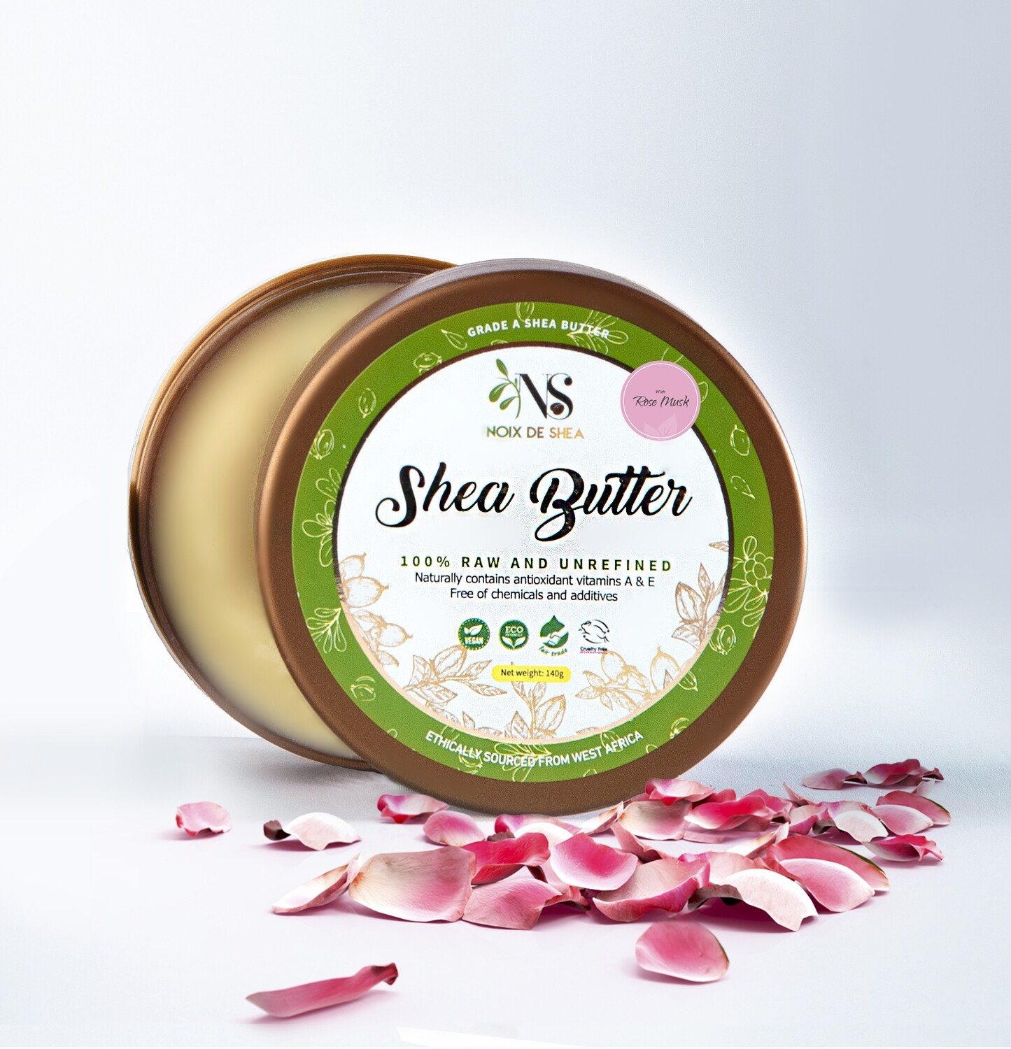 Raw Shea Butter with Sandal Rose & Musk
