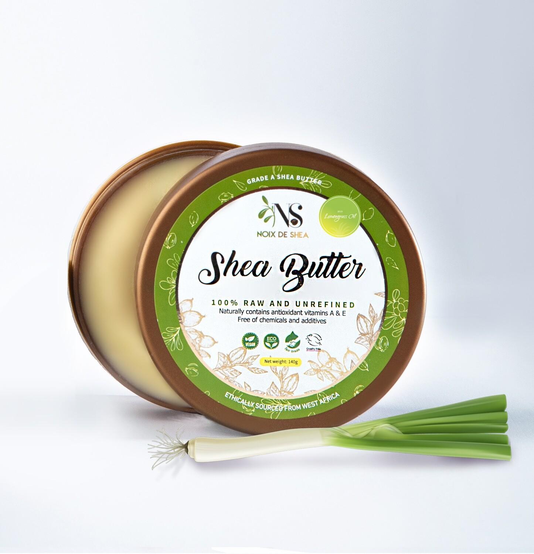 Raw Shea Butter with Lemongrass Oil
