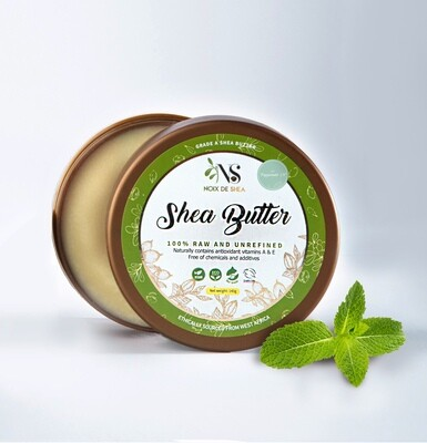 Raw Shea Butter with Peppermint Oil