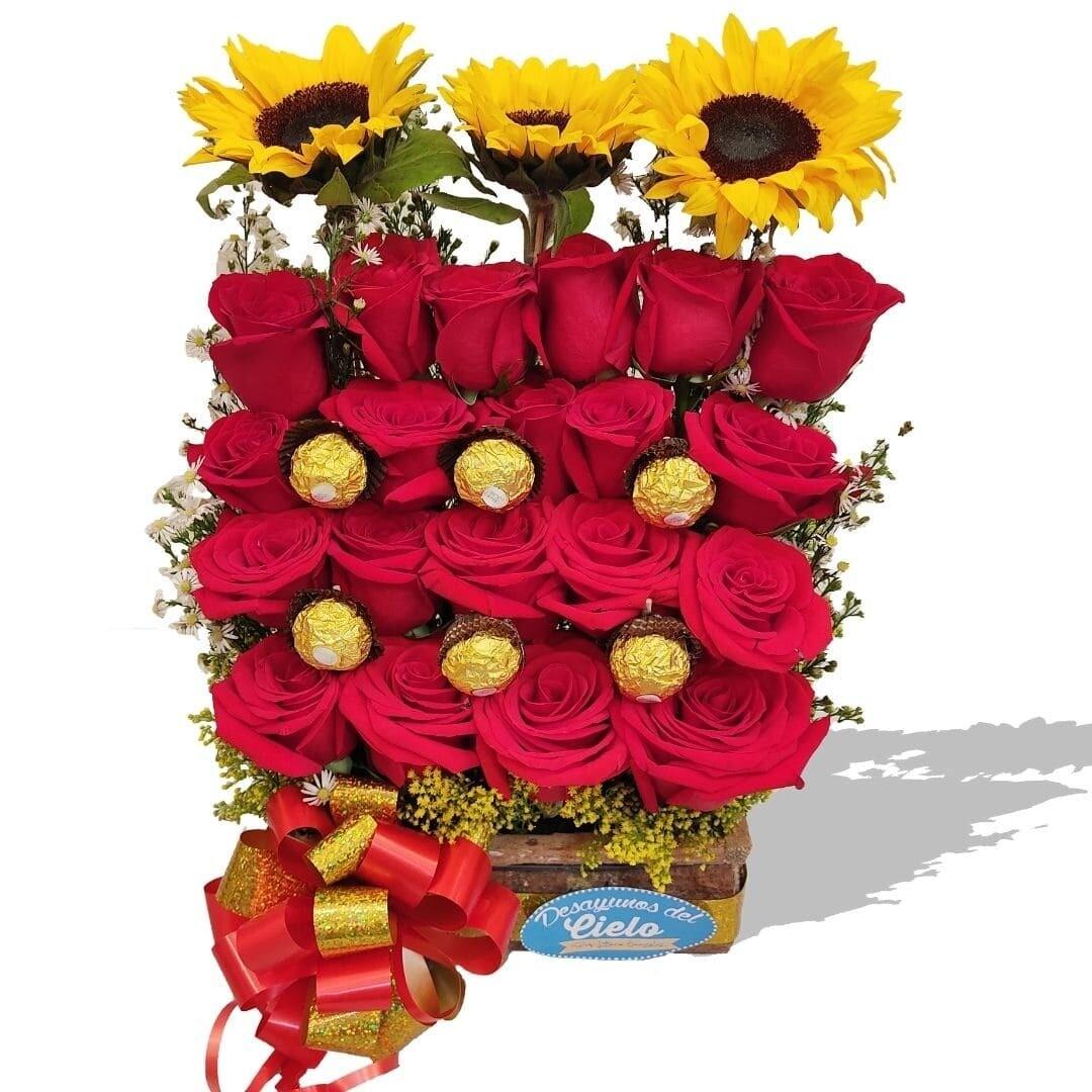 Escalera Especial de Rosas l Flores Sorpresa