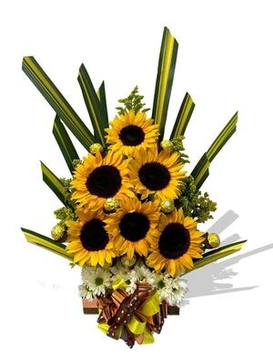 Arreglo de Flores con Girasoles l Girasoles Exoticos