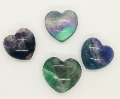 Fluorite Polished Heart