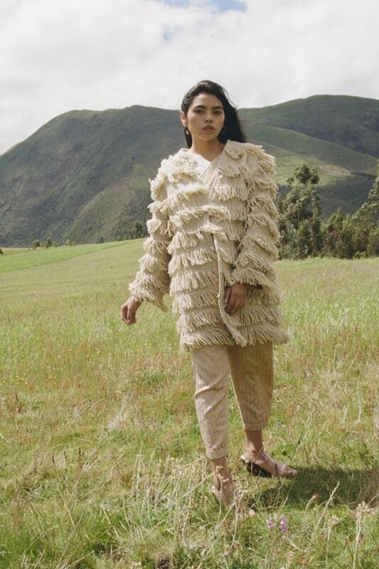 Fringed Wool Coat