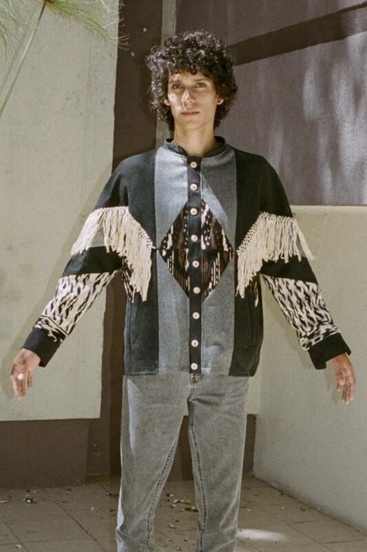 Custom Fringe & Patchwork Jacket