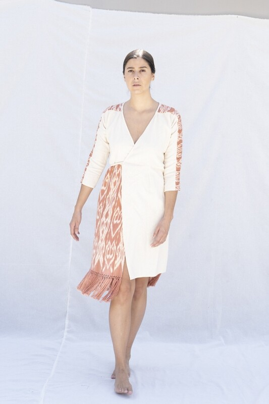 Ikat Wrap Dress