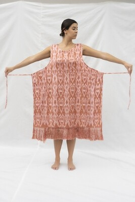 Ikat Poncho Dress