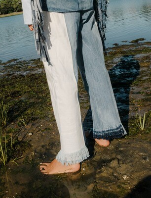 Reconstructed Denim Pants