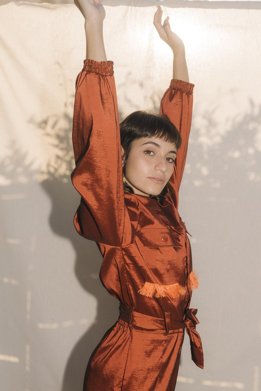 Silk Taffeta Jumpsuit