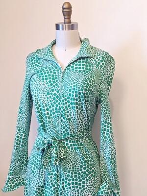 1970s Diane Von Furstenburg Cotton Midi Dress