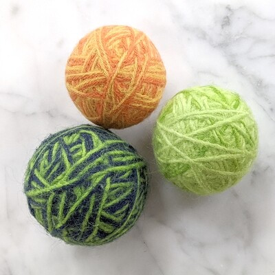 Handmade Wool Dryer Ball - Set of 3