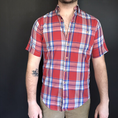 Vintage Short Sleeve Plaid
