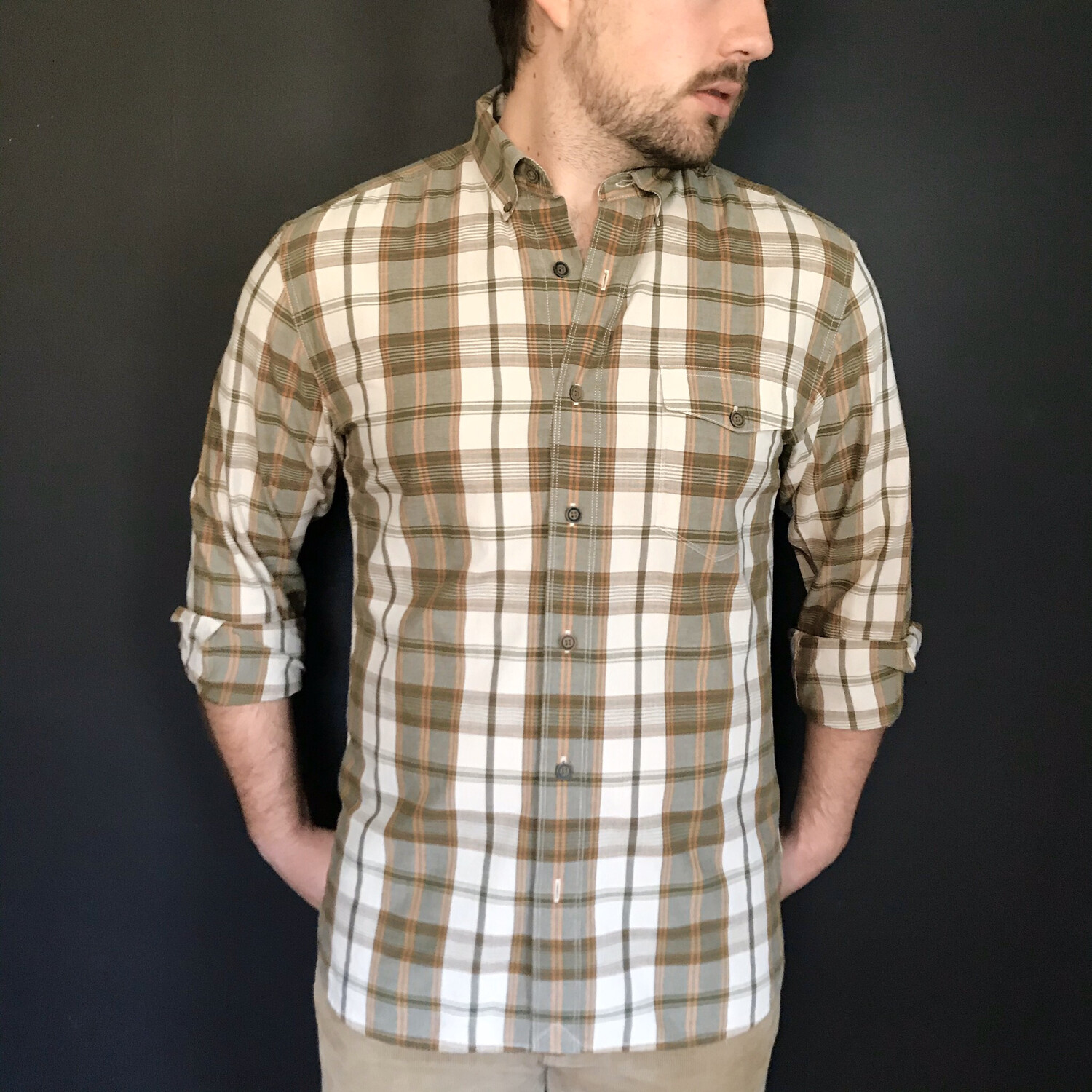 Lucky Brand Plaid Button-Down