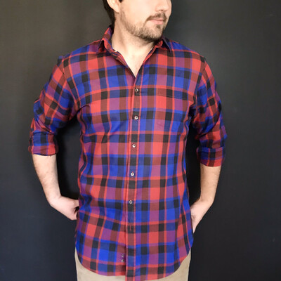 Tall Vintage Plaid Button-Down
