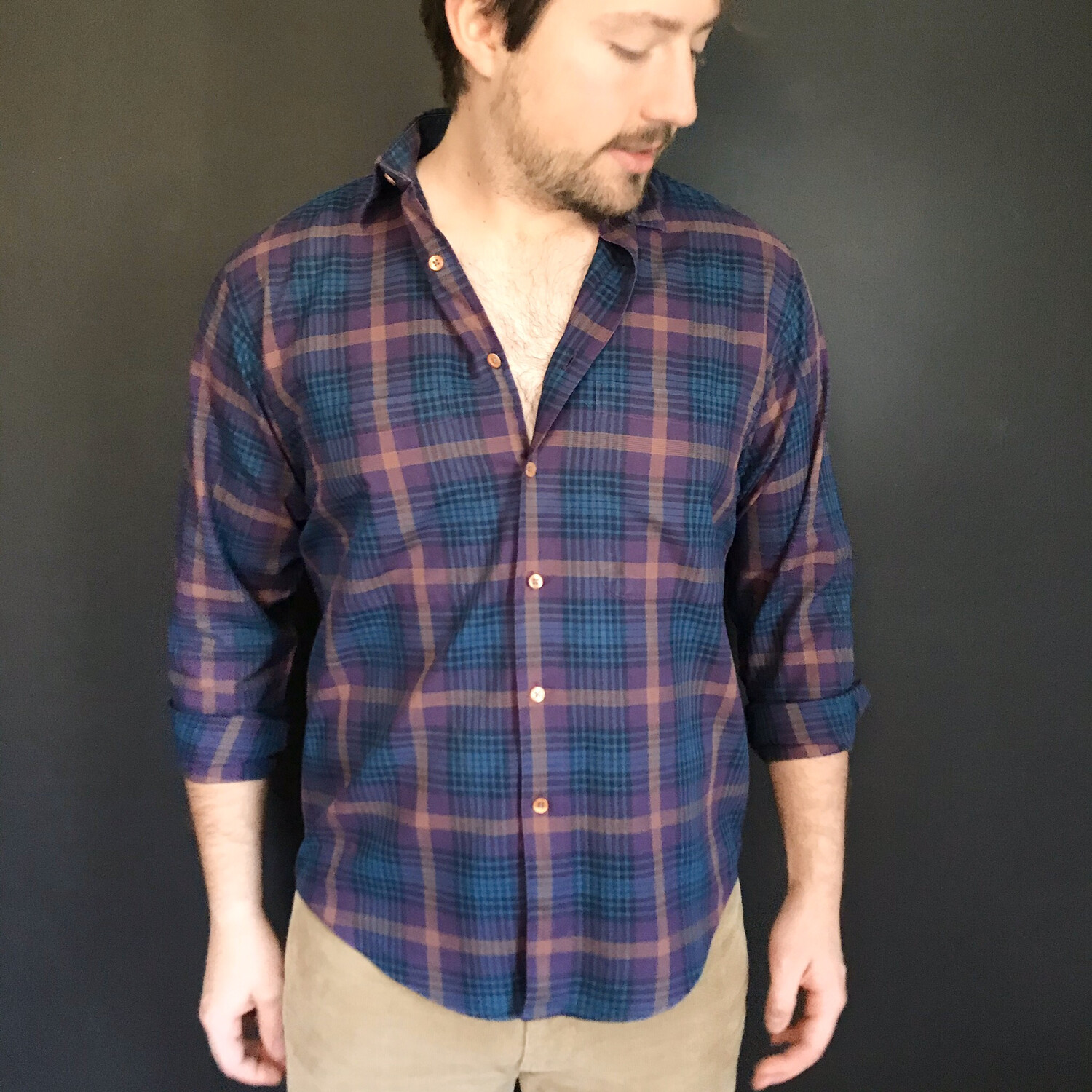 Vintage Plaid Button-Down