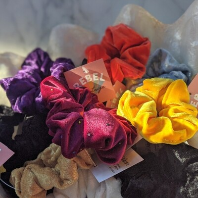 Pack of 3 Assorted: Handmade Scrunchie from Upcycled Fabrics