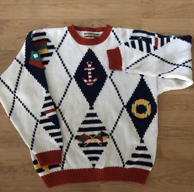 Nautical Decorative Knitted Sweater
