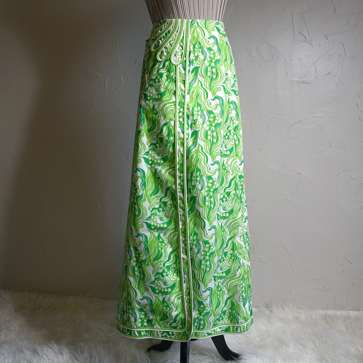 """1960s Lilly Pulitzer """"The Lilly"""" Maxi Skirt"""
