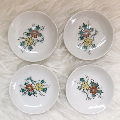 (Small) Handpainted Floral Trinket Dish | Set Of 4