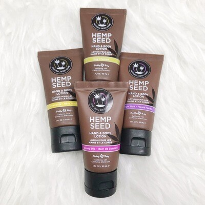 Hemp Seed Lotion 1 oz. | 4 Pack Assorted Scent